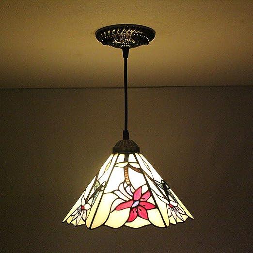 AI Li wei8-inch Colibrí Pastoral Flor Morada Tiffany lámpara ...