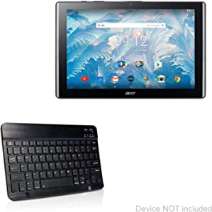 Acer Iconia One 10 B3-A40 Keyboard, BoxWave [SlimKeys Bluetooth Keyboard] Portable Keyboard with Integrated Commands for Acer Iconia One 10 B3-A40 - Jet Black