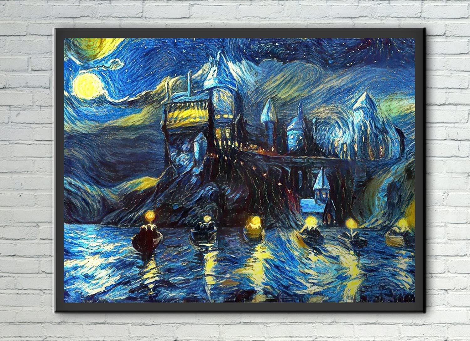 04ff7a6658e3 Amazon.com  Westlake Art - Starry Night Castle Night Boats - 20x24 Poster  Print Wall Art - Abstract Artwork Home Decor Office Birthday Unframed 20x24  Inch ...