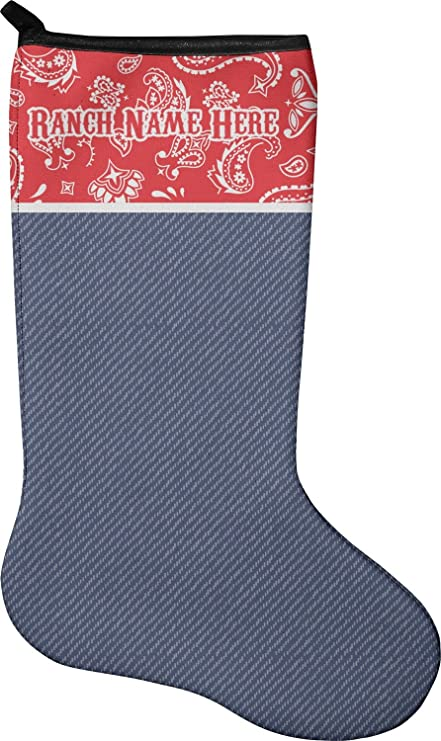 Western Christmas Stockings Personalized.Amazon Com Rnk Shops Western Ranch Christmas Stocking