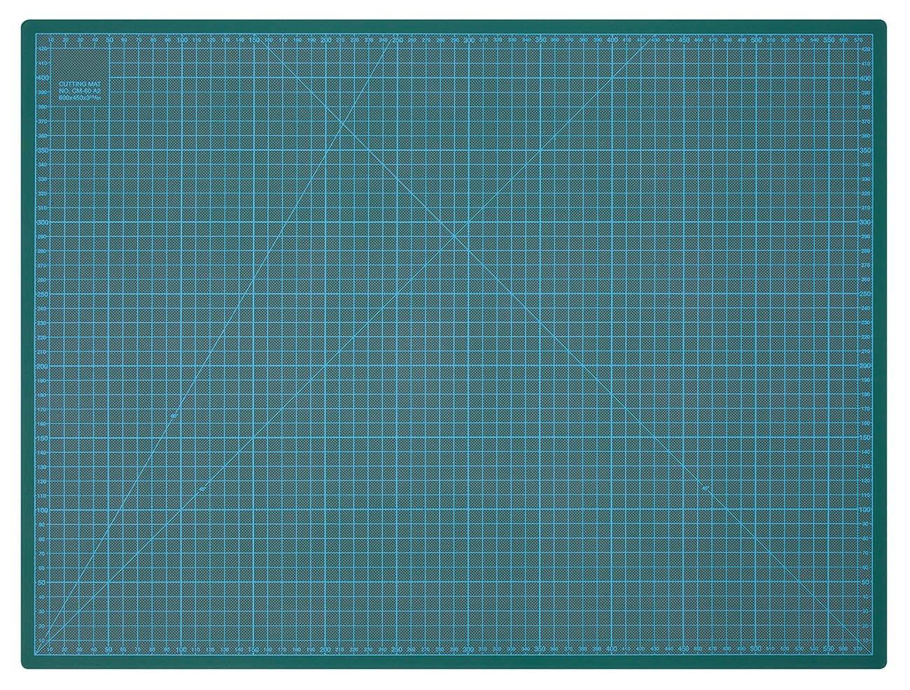 60 cm Verde Tappetino da Taglio 600 x 450 x 3 mm Wedo 079160 Cutting Mat