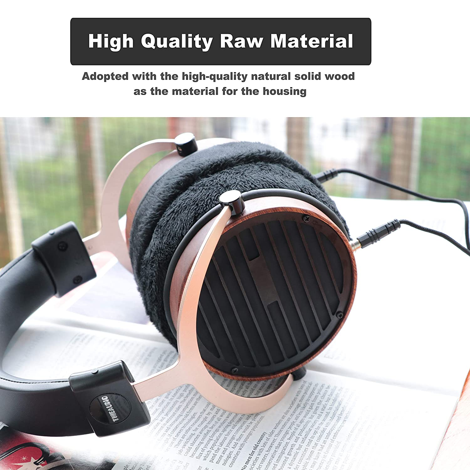 Thieaudio Phantom Planar Magnetic Open Back Over-Ear Headphones with  Replacement Velvet Earmuffs
