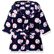 Luvable Friends Plush Bath Robe, Baseball, 0-9 Months