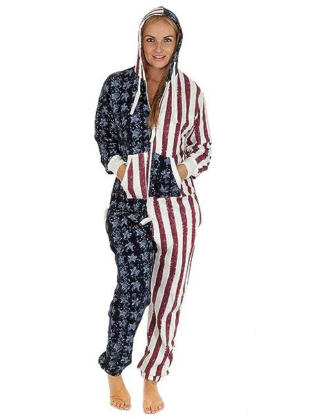 Mary Jane Fashion - Pijama de una pieza - para mujer Rojo Usa
