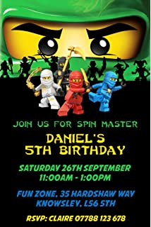 NINJAGO LEGO BIRTHDAY PARTY INVITES INVITATIONS X 10 PACK