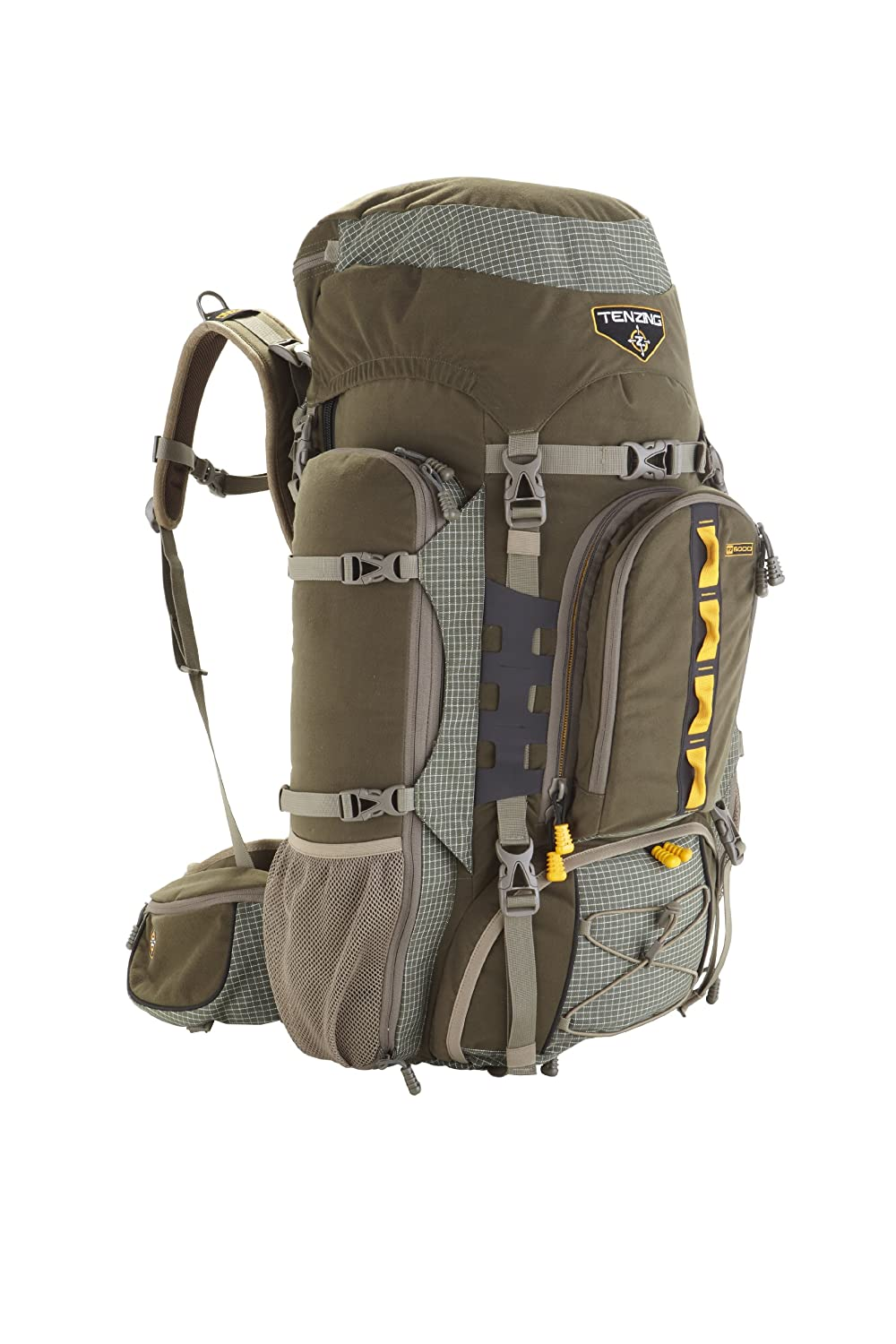 Amazon.com: Tenzing TZ 6000 Internal Frame Hunting Pack, Loden Green ...