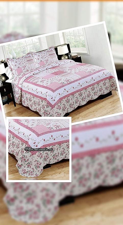 Mercatienda.es Colcha Bouti Tacto algodón para Cama de 135 y 150cm ...