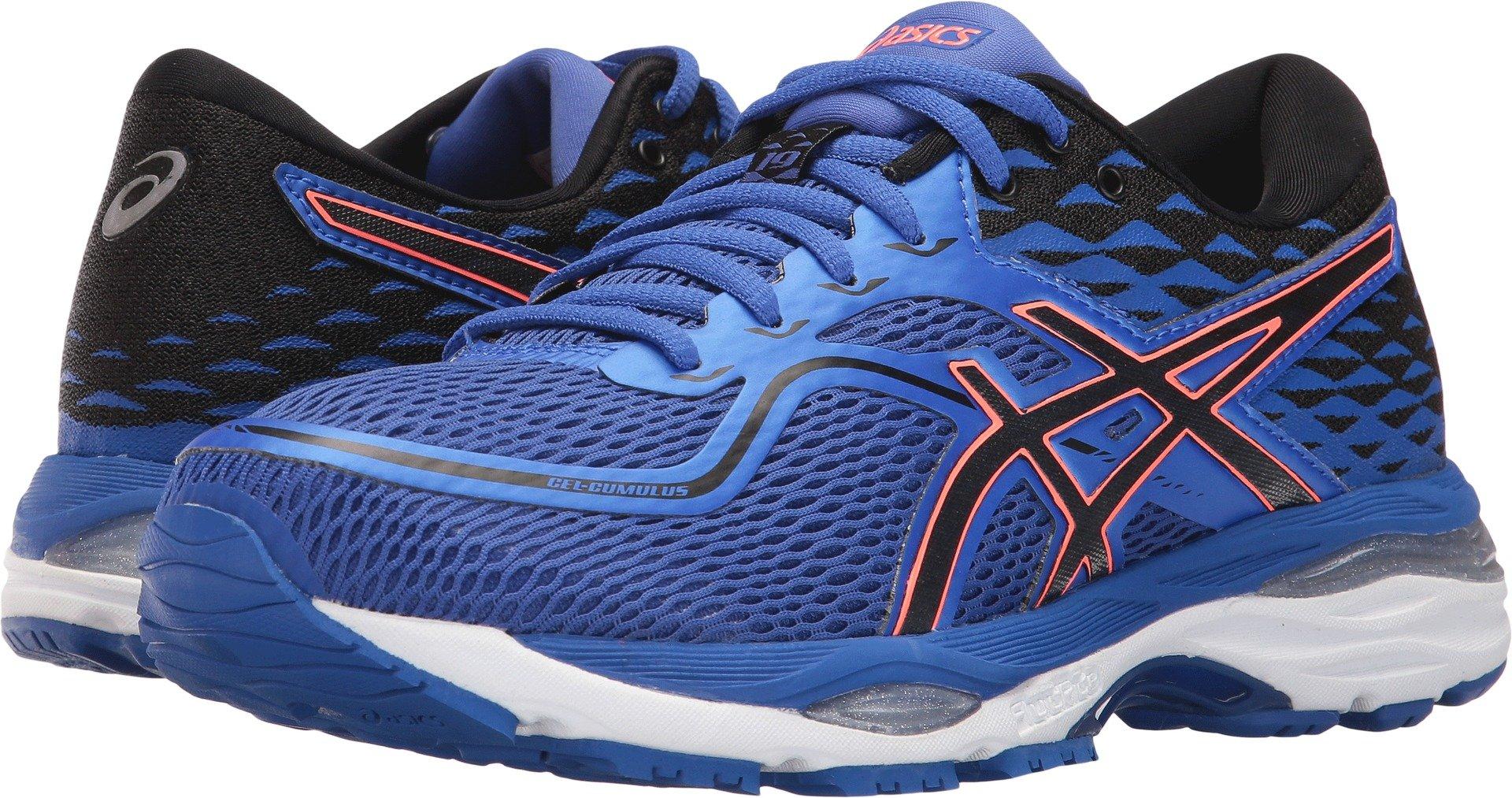 6bc66610 ASICS Womens Gel-Cumulus 19 Running Shoe, Blue Purple/Black/Flash Coral,  9.5 2A US