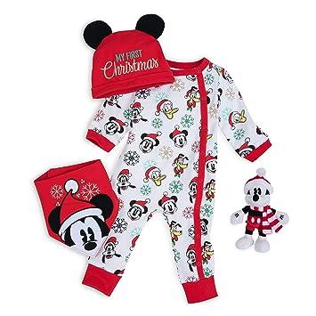 Baby boy Disney Mickey Mouse 2 piece pajamas black red 18 month