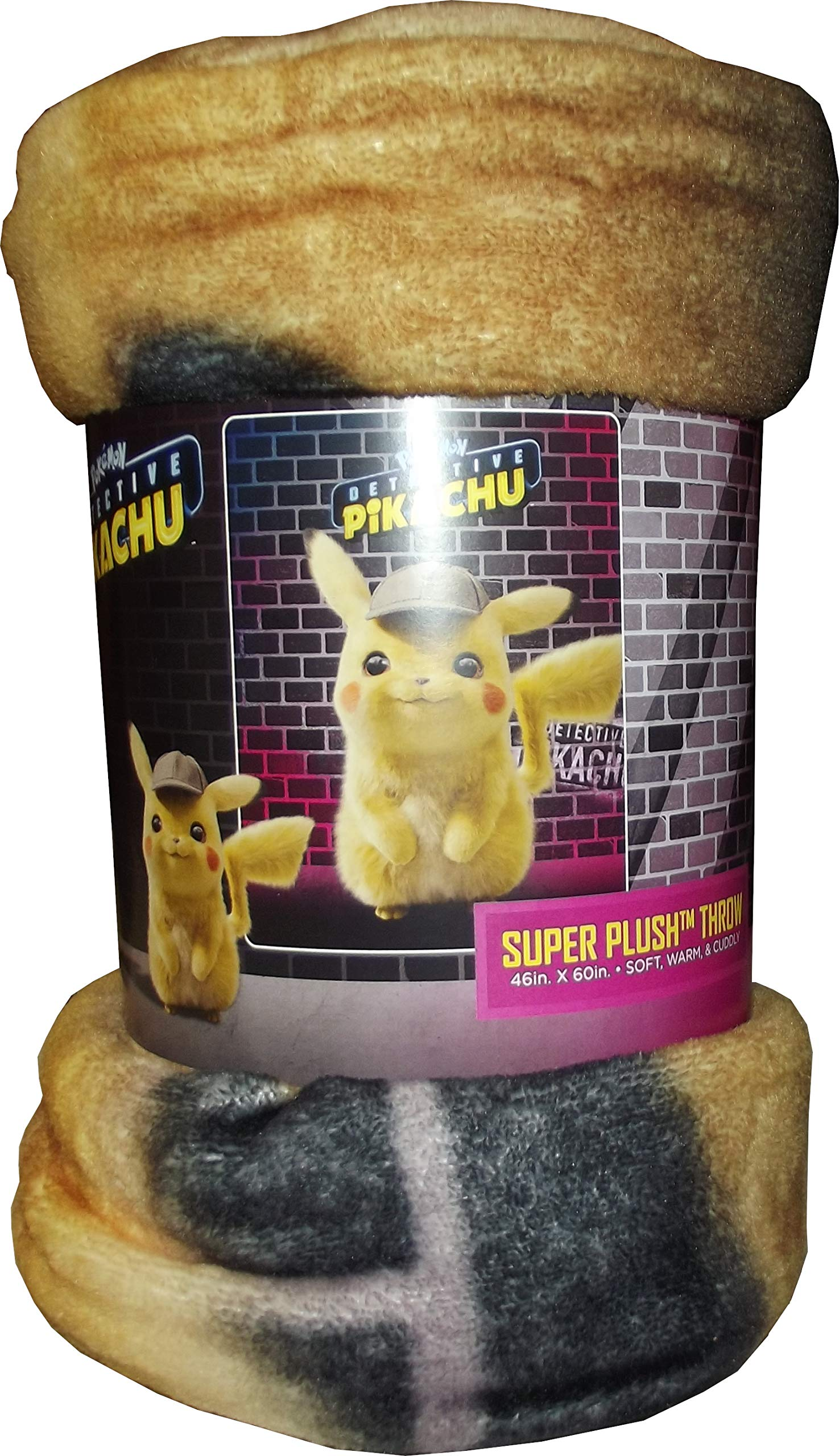 Pokemon , Pikachu Silk Touch Throw Blanket Toy, Multicolor, 40 x 50 by Pika