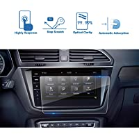 LFOTPP Clear Tempered Glass Car Navigation Screen Protective Film for 2017 2018 VW Tiguan in-Dash Screen (9.2inch)