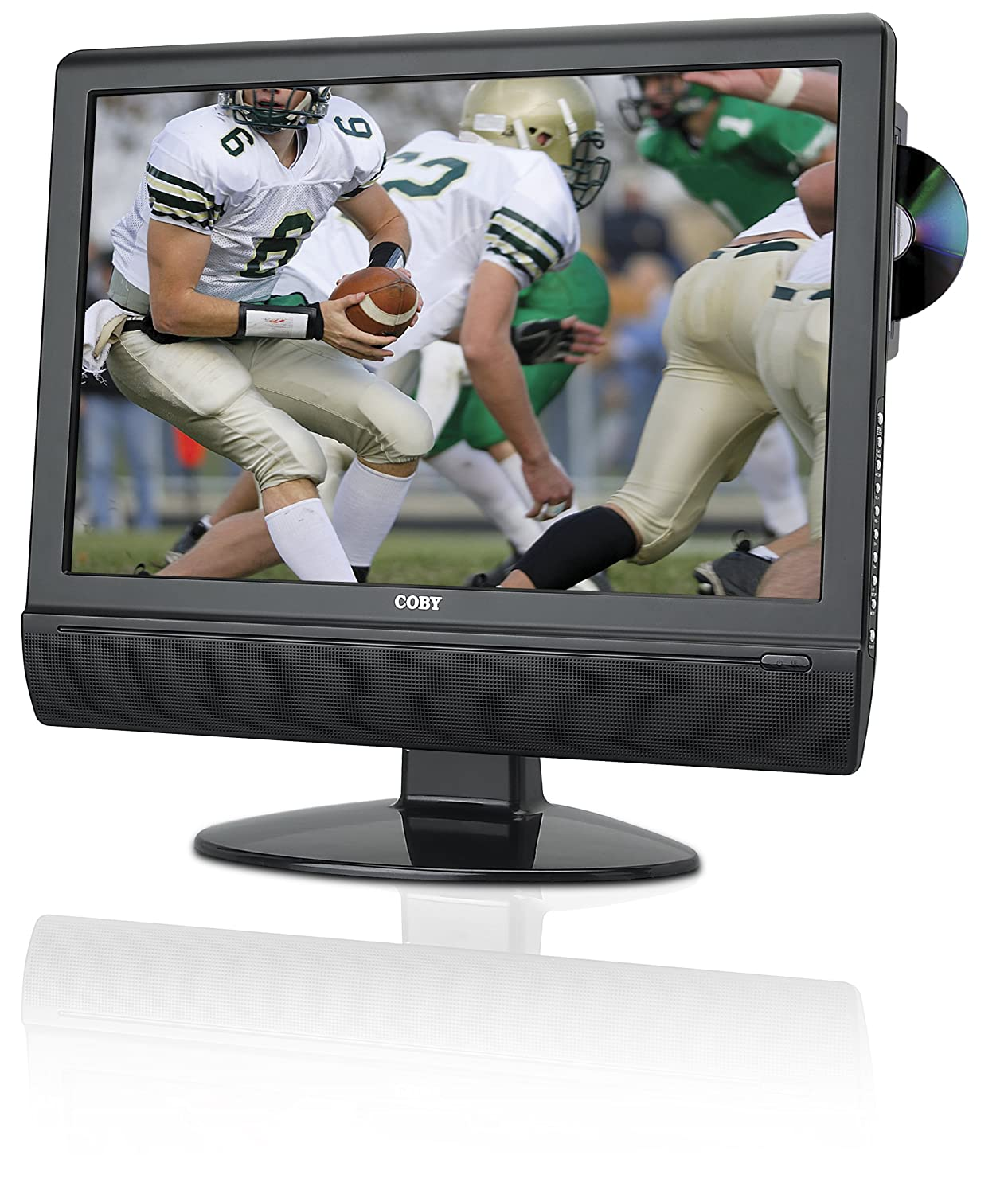 Amazon.com: Coby TFDVD1973 19-Inch Widescreen LCD HDTV/Monitor with  Slot-Loading DVD Player (Black): Electronics