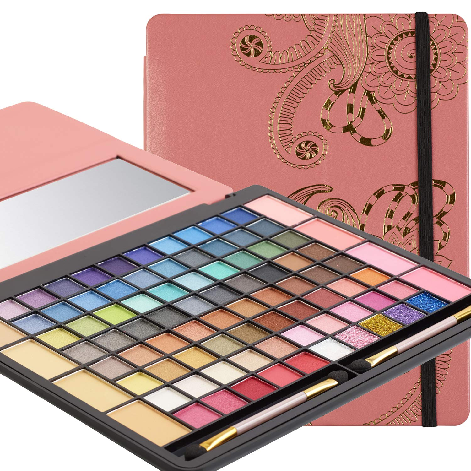 Eyeshadow Palette - Tablet Case Makeup Kits for Teens and Women - Full Starter Kit or Make Up Gift Set for Teen Girls, Beginners or Pros - Variety Shade Array - by Toysical
