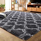 LOCHAS Luxury Velvet Shag Area Rug Modern Indoor Plush Fluffy Rugs, Extra Soft and Comfy Carpet, Geometric Moroccan Rugs…