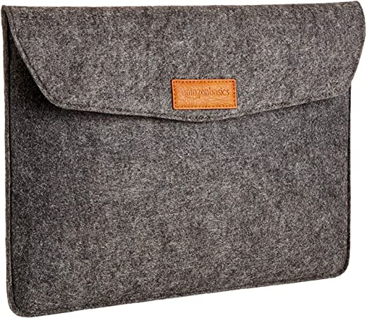 AmazonBasics 13 Inch Felt Macbook Laptop Sleeve Case - Charcoal