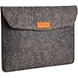 Amazon Basics 13 Inch Felt Macbook Laptop Sleeve Case - Charcoal