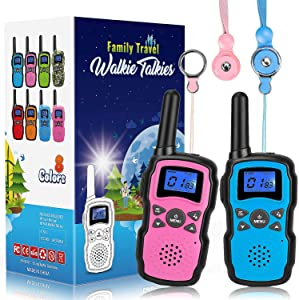 Wishouse 2 Walkie Talkies for Kids, Family Walky Talky Two Way Radio for Adults Cruise Ship Long Range, Outdoor Camping Hiking Fun Toys Birthday Gift for 3 4 5 6 7 8 9 10 11 12 Year Old Girls Boys