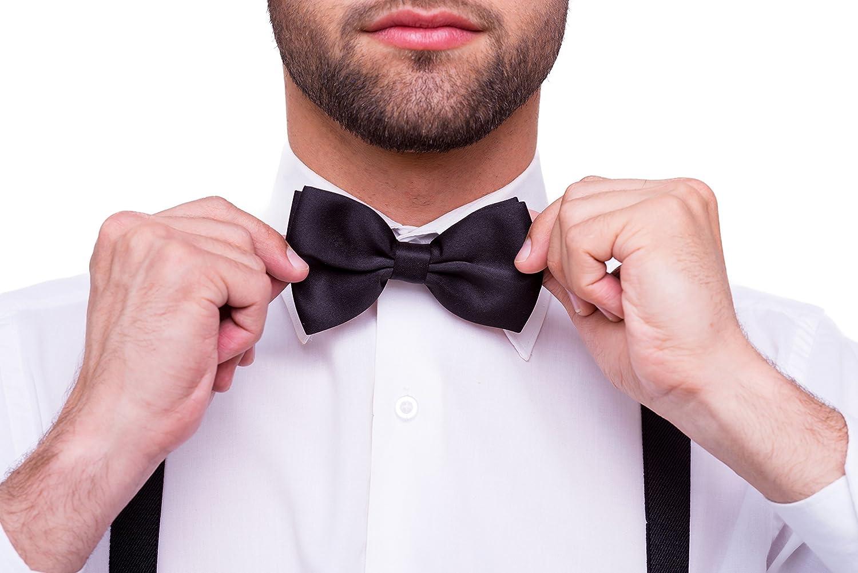DonDon Tirantes para hombres ancho 3,5 cm en forma de Y, elásticos y ajustables en paquete de 2 con pajaritas adecuada en…