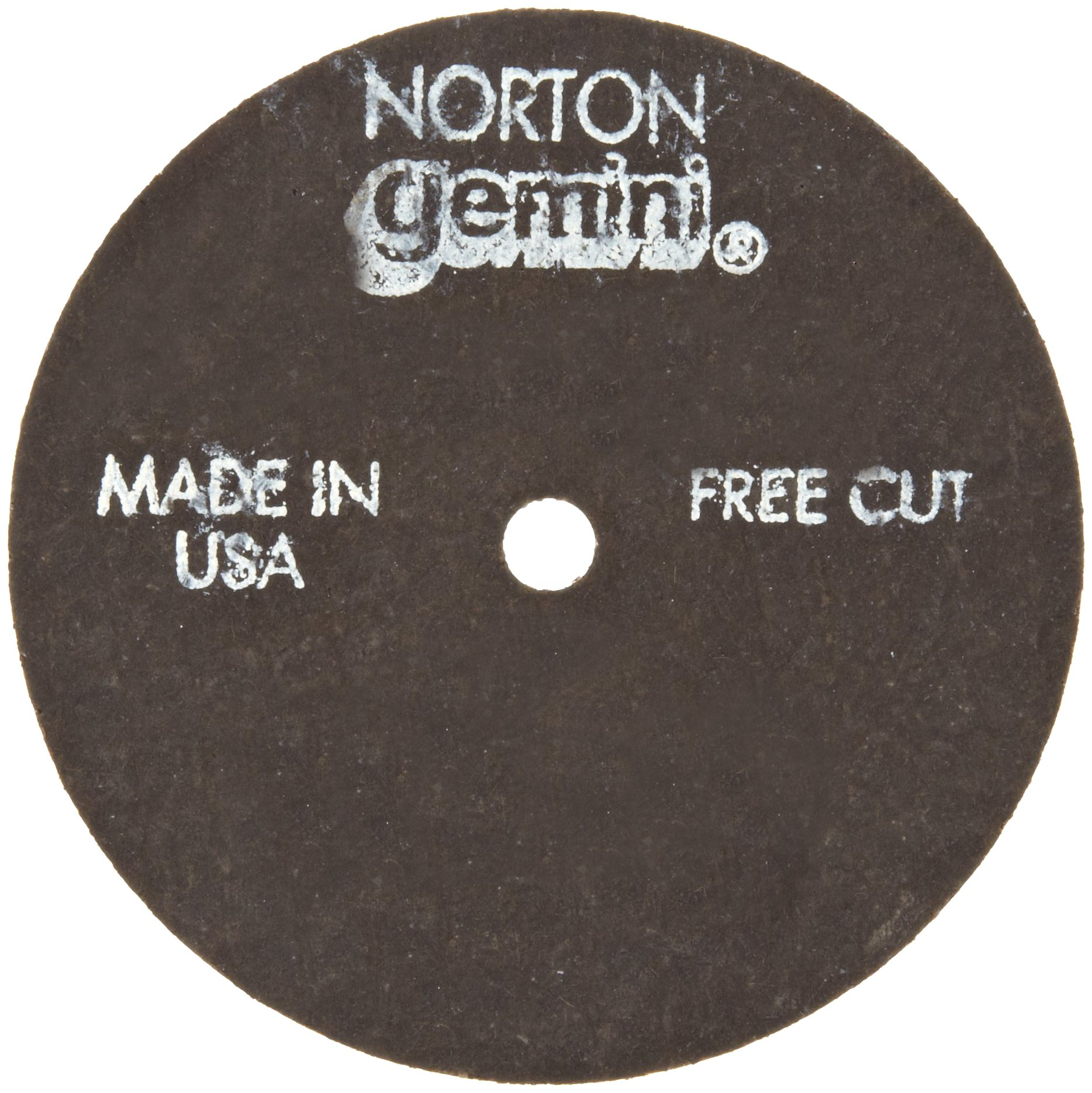 Norton Gemini Fast Cut Small Diameter Reinforced Abrasive Flat Cut-off Wheel, Type 01, Aluminum Oxide, 3/8'' Arbor, 4'' Diameter x 0.35'' Thickness  (Pack of 25)