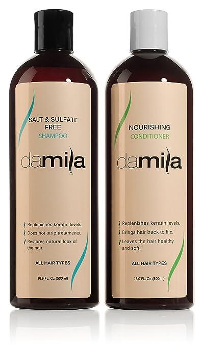 5. Damila Salt & Sulfate Free Shampoo and Nourishing Conditioner