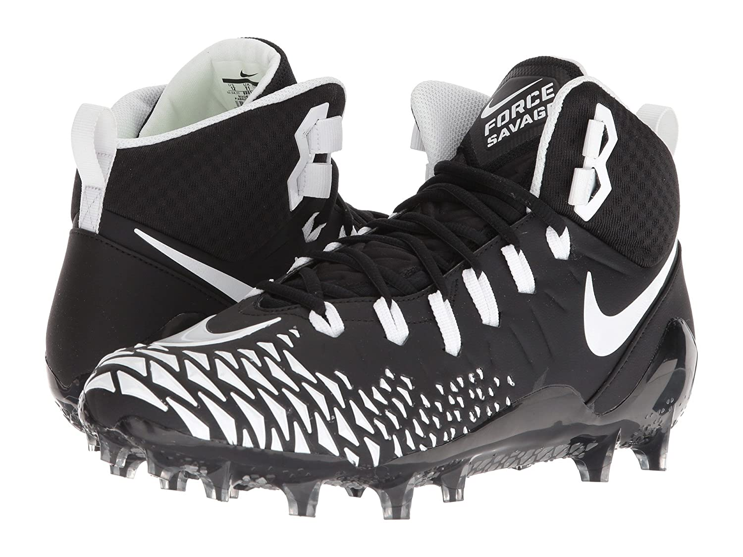 (ナイキ) NIKE メンズフットボールアメフトシューズ靴 Force Savage Pro Black/White/Black/Black 15 (33.cm) D Medium B07CP4JQ22