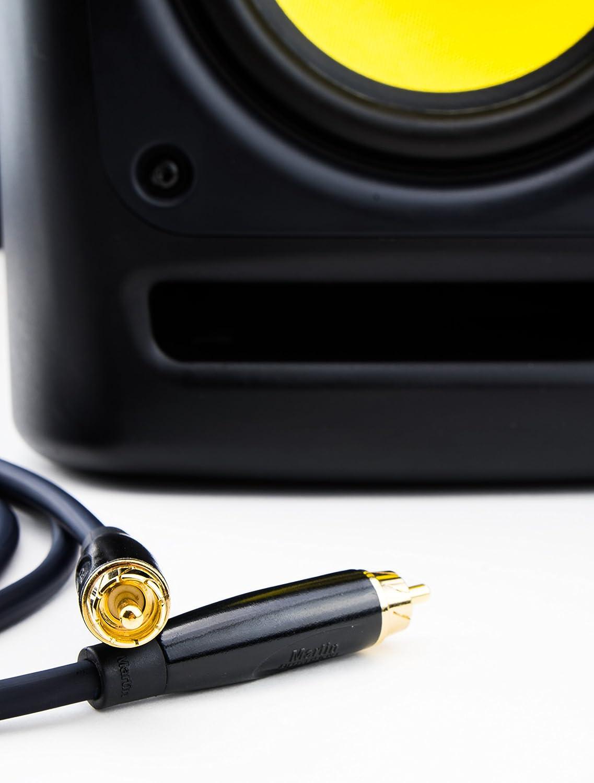 Digitales Koaxialkabel S//PDIF und Composite Video RCA Cinch vergoldete Stecker DCSk 5m Subwoofer Kabel f/ür aktive Subwoofer an AV Receiver Heimkino Verst/ärker