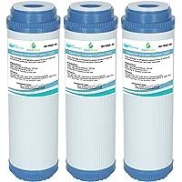3X GAC-10 AquaHouse - Cartucho de filtro de agua de carbón activado granular GAC para ósmosis inversa, casa entera, agua…