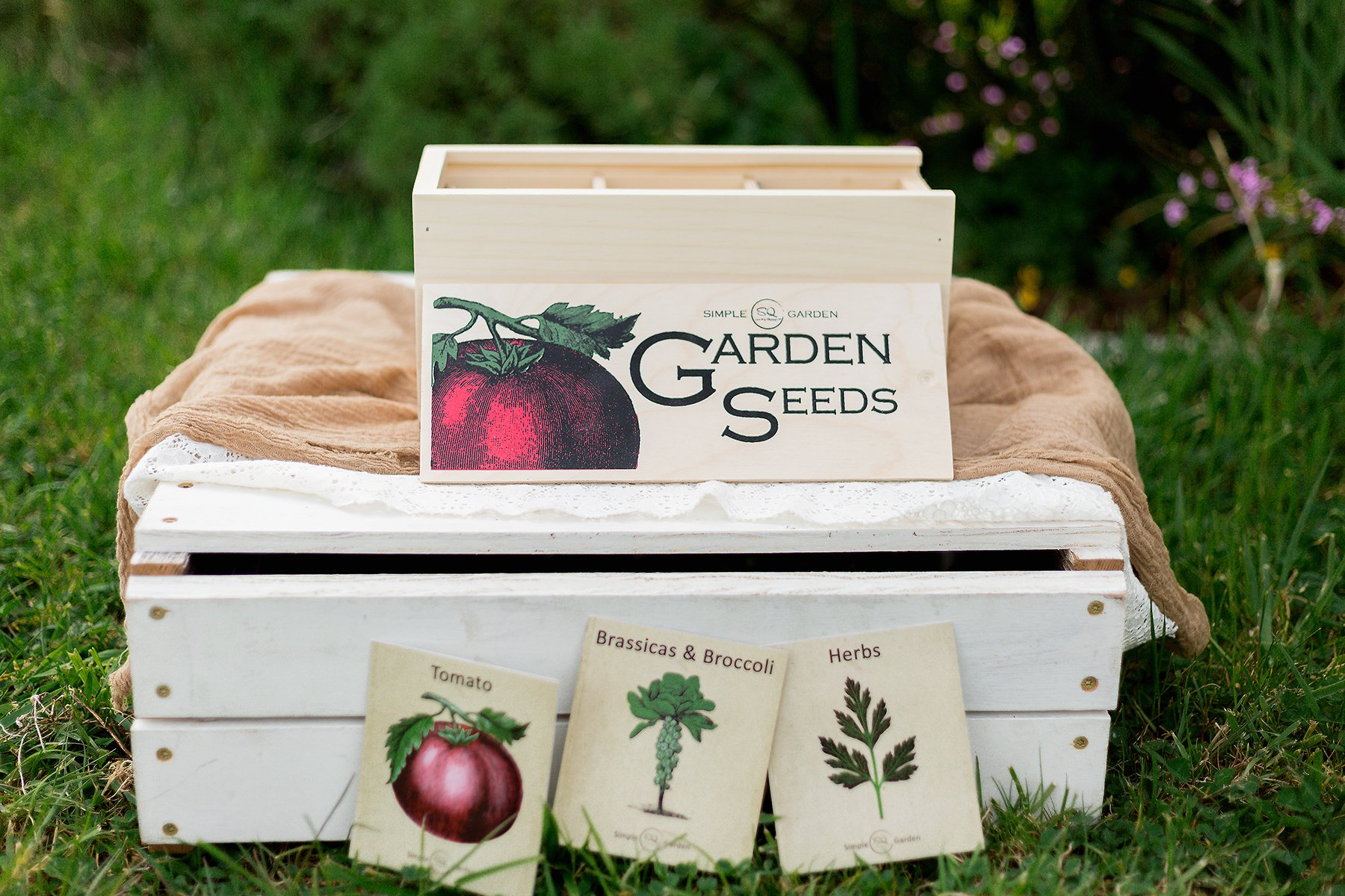 Seed Storage and Organizer Box for Your Garden Seed Packets - New - Tall Size -11.75 L 5.1 Wide 6.5 H - Expertly Crafted in The U.S.A. with Vintage Style Divider Cards to Organize Seeds by Simple Quality (Image #2)