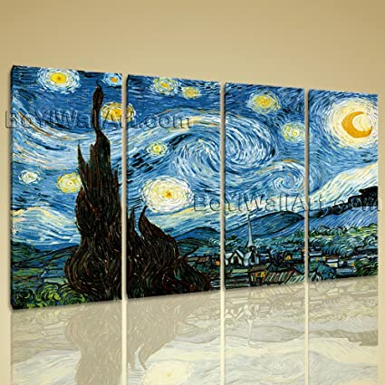 Amazon.com: Extra Large Van Gogh The Starry Night Canvas HD Picture ...