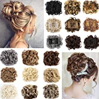 Updo Hairpiece Hair Bun Extension Chignons Hair Piece Clip in Ponytail  Extension 17fab0ebc15c