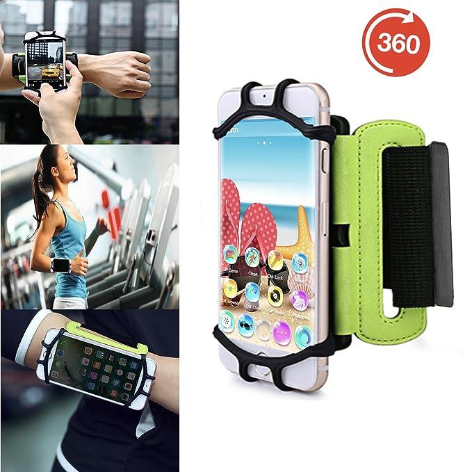 Outdoor Handy Schutzhülle | für Blackview BV5000 | Multifunktional Sport armband | zum Laufen, Joggen, Radfahren | SPO-3 Grün
