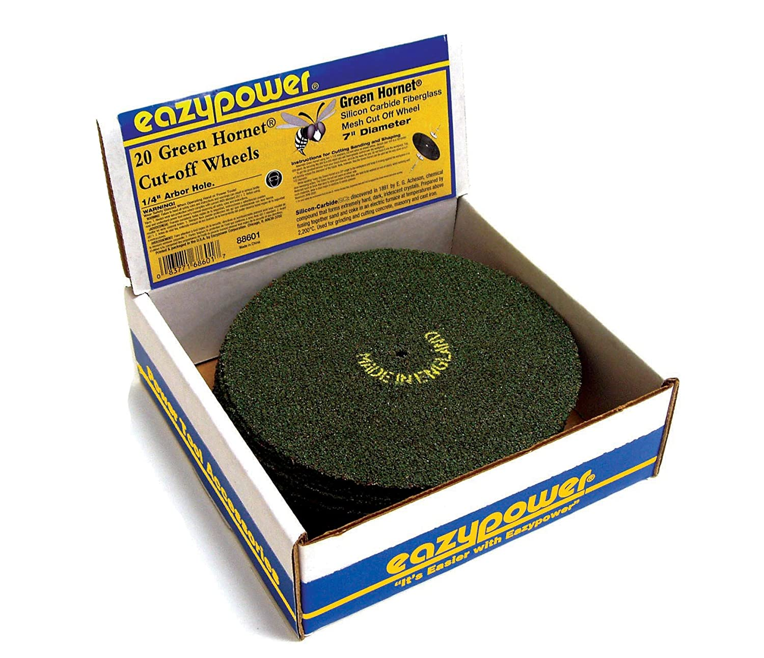 15-Piece Eazy Power Eazypower 88599 7-Inch Aluminum Oxide Cut Off Wheels for Metal