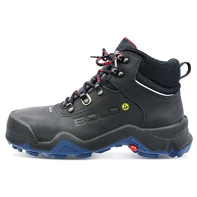 HKS Delta 1TP Sicherheits-Stiefel S3 SRC ESD en ISO 20345 Schwarz C2a1lNe2A