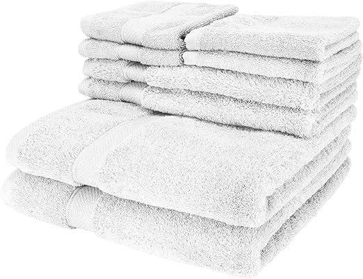 Cozy Homery Toallas de Lujo de 6 Piezas Blanco - 2 Toallas de baño ...