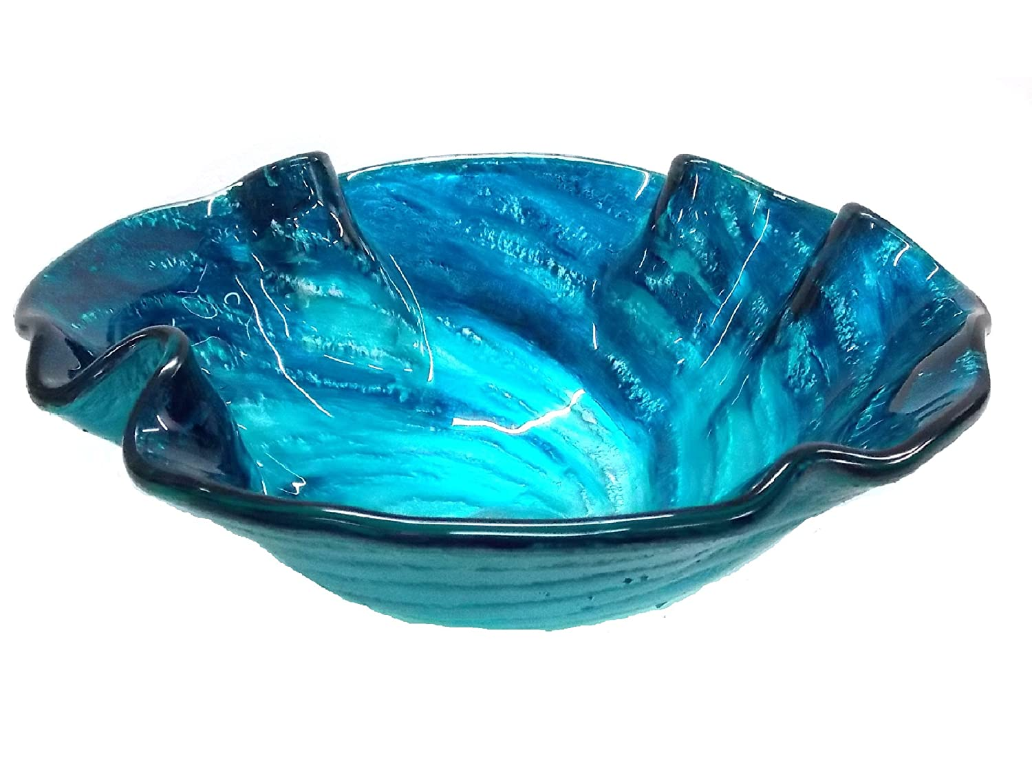 Carribean Wave Glass Vessel Sink new