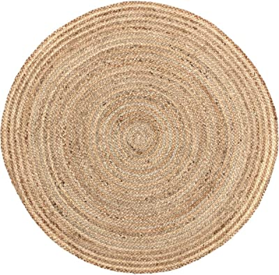 VHC Brands Coastal Farmhouse Flooring - Harlow Tan Round Jute Rug, 3' Diameter