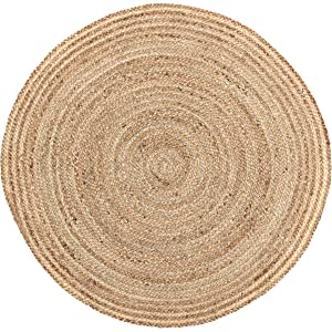 VHC Brands Coastal Farmhouse Flooring - Harlow Tan Round Jute Rug, 3' Diameter
