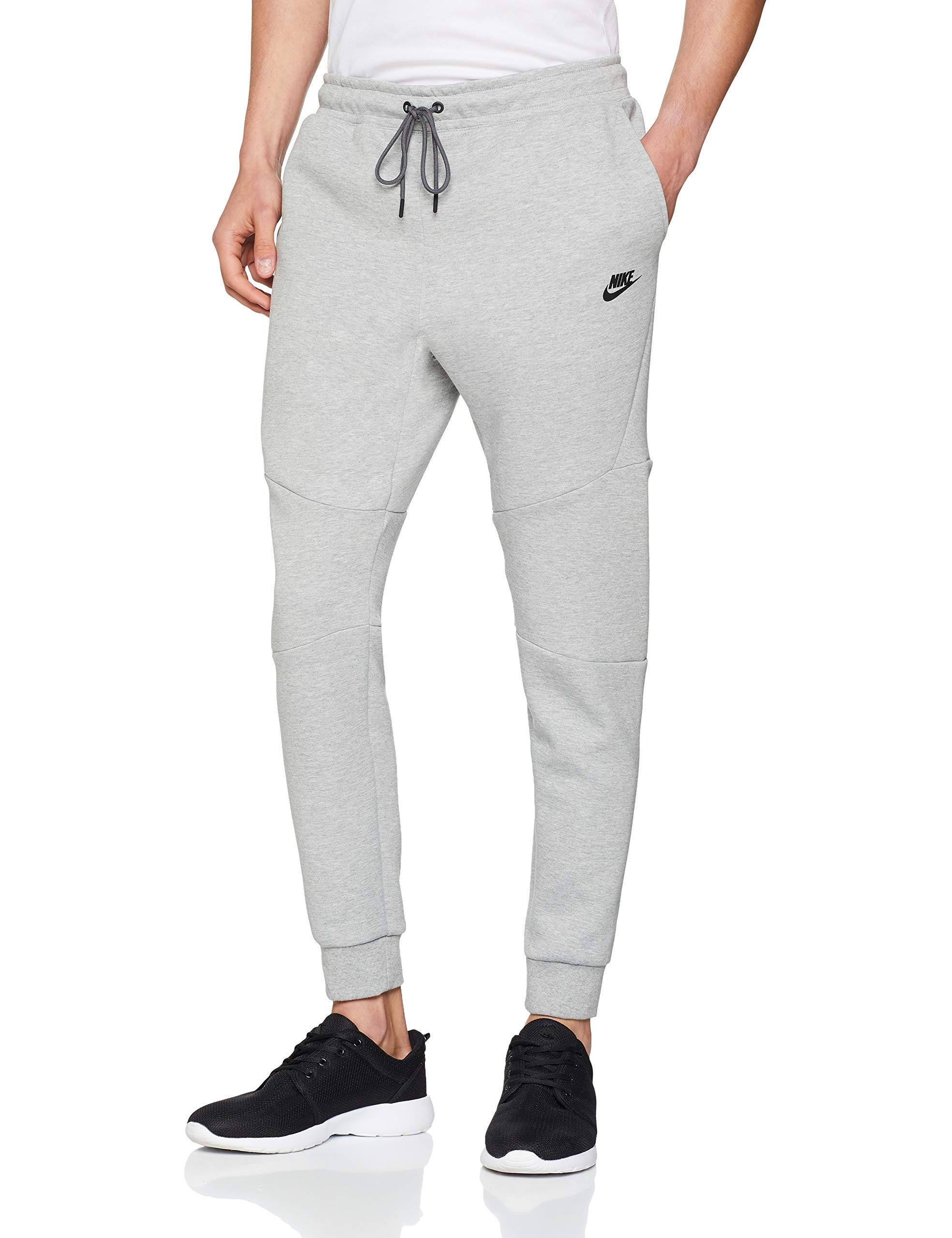 exclusive range search for clearance top-rated real Nike Mens Sportswear Tech Fleece Jogger Sweatpants Grey Heather/Black  805162-063 Size Medium