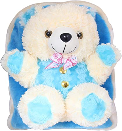Tickles Soft Toy Teddy School Bag for Kids 3 litres
