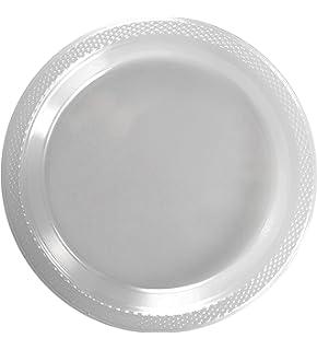 Amazon.com: Amscan Plastic Dinner Plates, 9-Inch, Clear, 24 Per ...