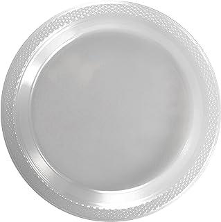 Exquisite 9 Inch. Clear plastic plates - Solid Color Disposable Plates - 100 Count  sc 1 st  Amazon.com & Amazon.com: Laura Stein Clear Plastic 9 Inch Plates Pack Of 160 ...
