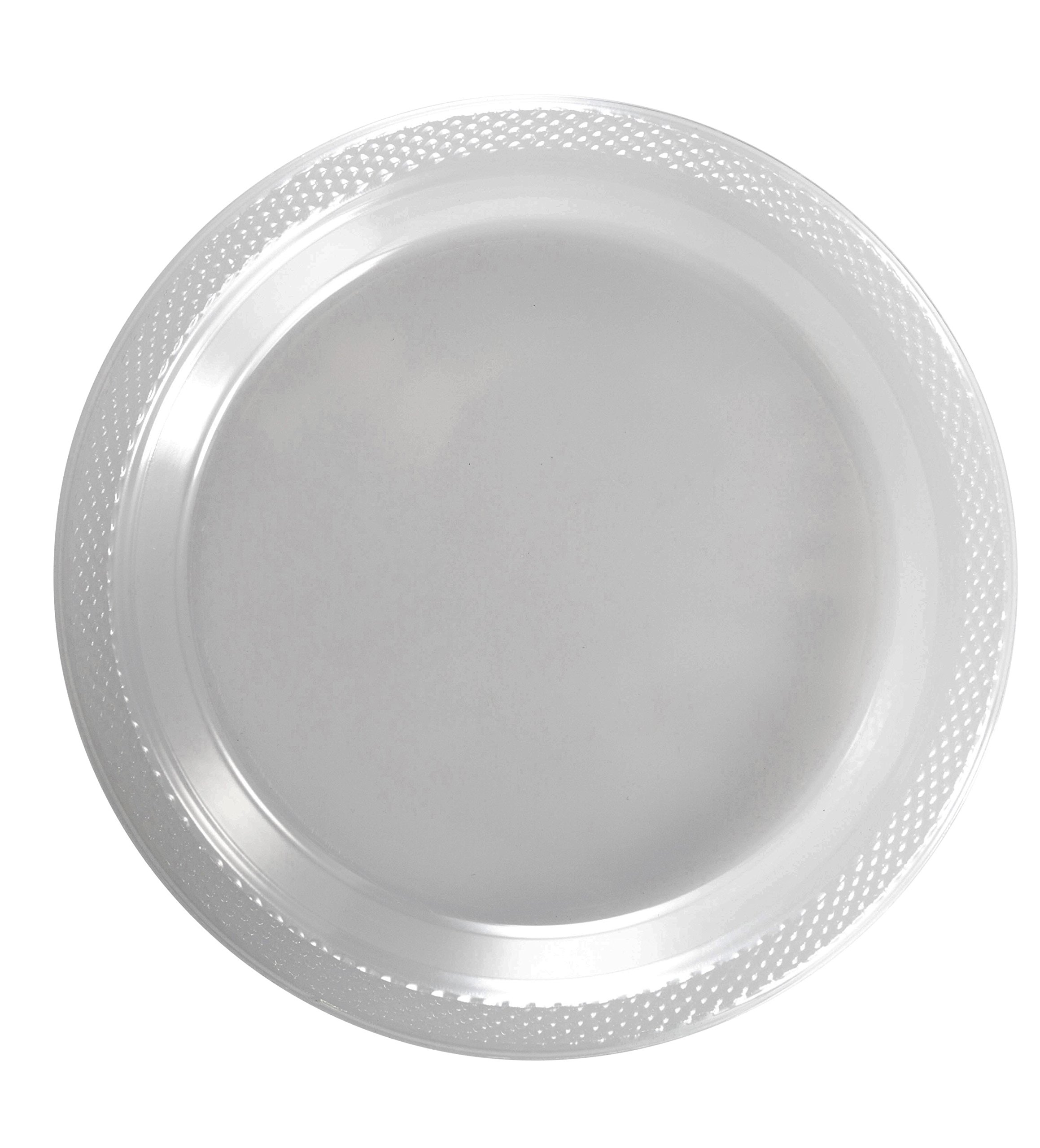 Exquisite 9 Inch. Clear plastic plates - Solid Color Disposable Plates - 100 Count by Exquisite
