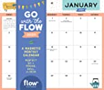 Go with the Flow Desk Calendar 2020: A Magnetic Monthly Calendar Perfect for a Fridge, Wall, or Desk
