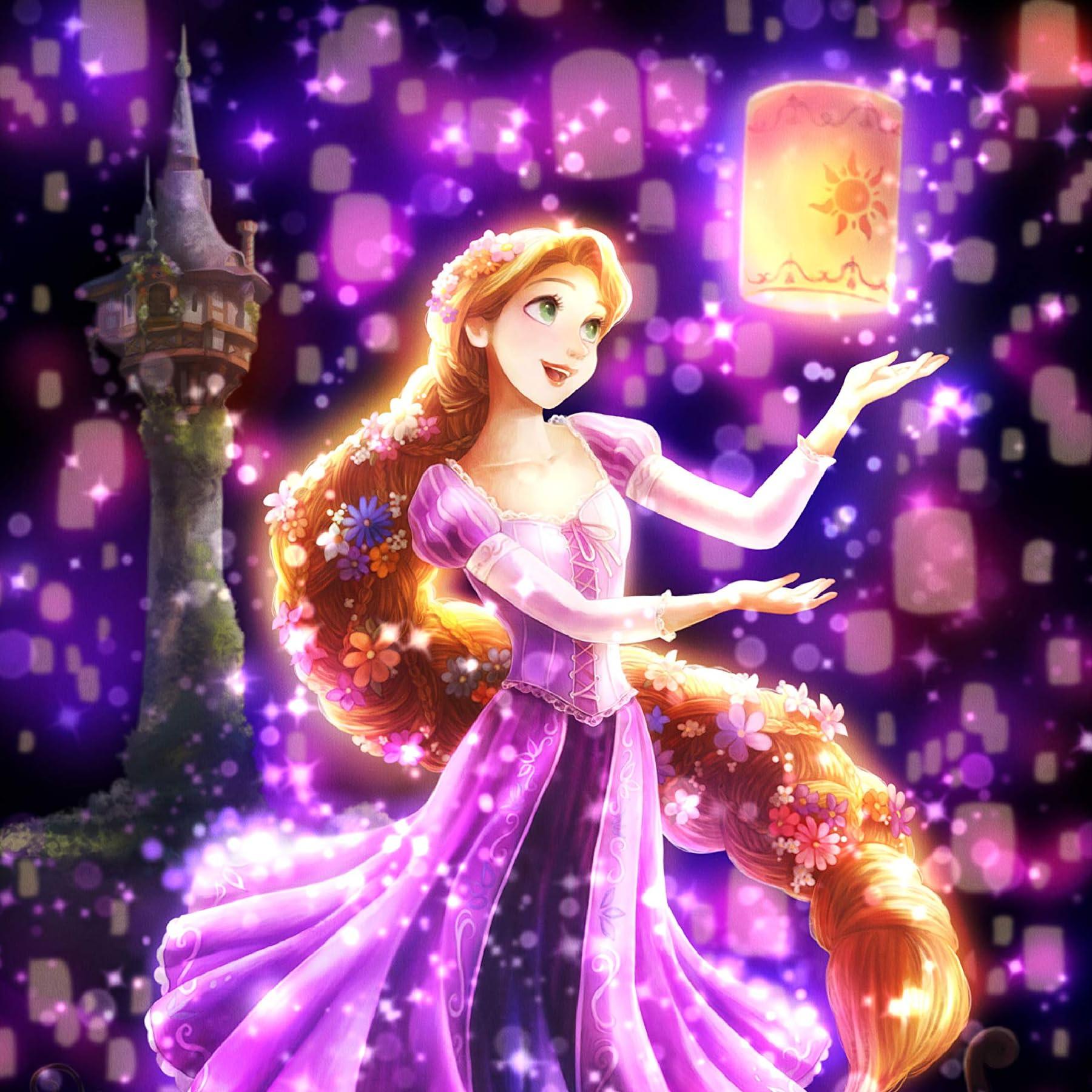 ディズニー Ipad壁紙 夜空に灯る夢 ラプンツェル アニメ スマホ用画像