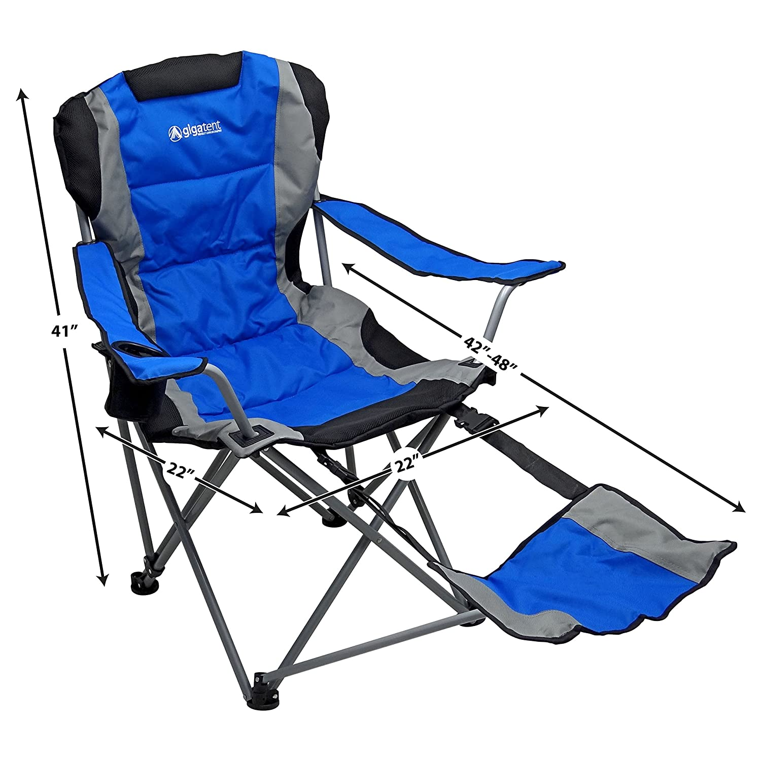 Magnificent Gigatent Cc 001 Camping Chair With Footrest Amazon Co Uk Theyellowbook Wood Chair Design Ideas Theyellowbookinfo