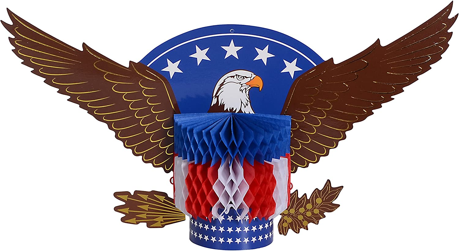 PAPER JAZZ Bald Eagle Table Centerpiece for Patriotic Day Party Decoration for Independence Day Labor Day July 4th Memorial Day Veteran Day Presidency Day (Eagle ONLY)