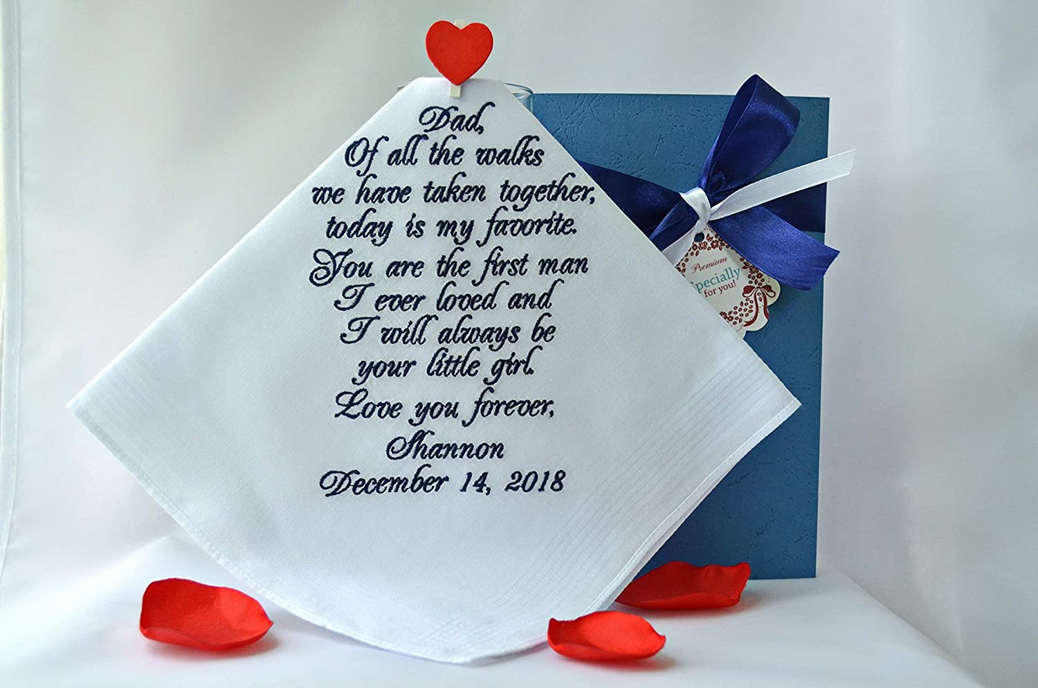 Father of the bride handkerchief Dad hankerchief wedding Father of the bride gifts from daughter