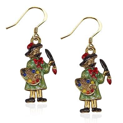 5073d760472b8 Whimsical Gifts Artist Charm Earrings