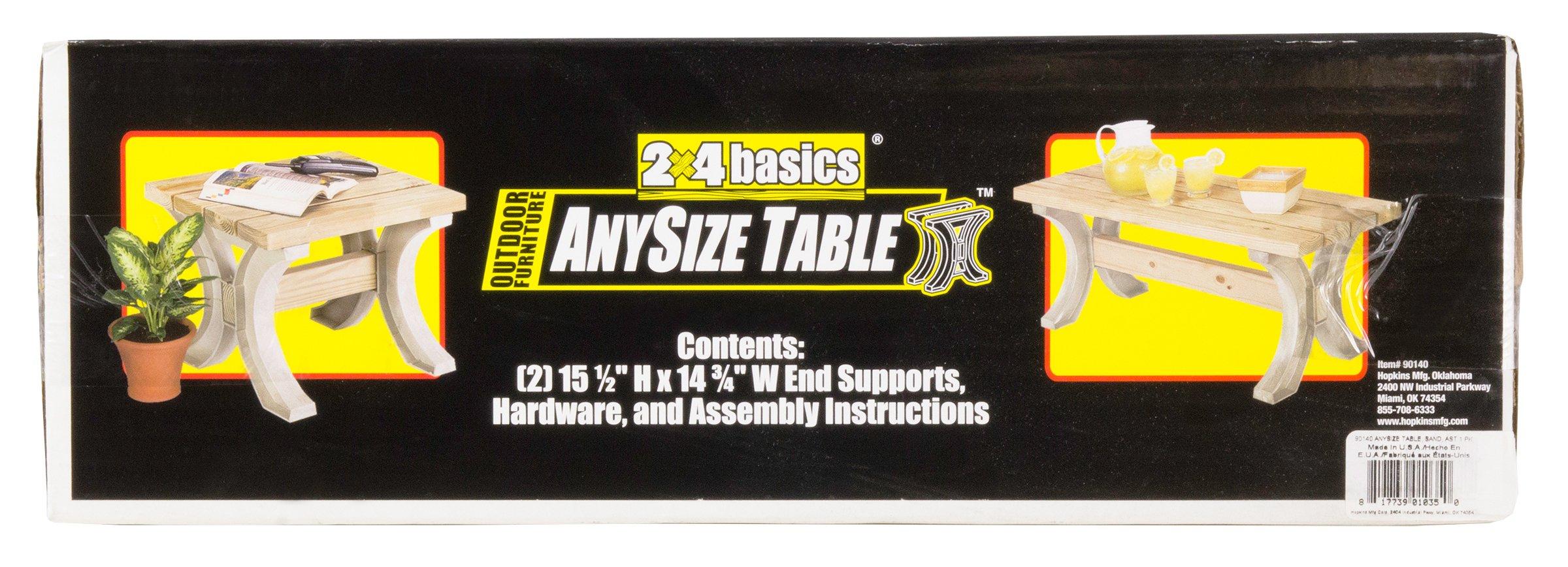 Hopkins 90140 2x4basics AnySize Table, Sand