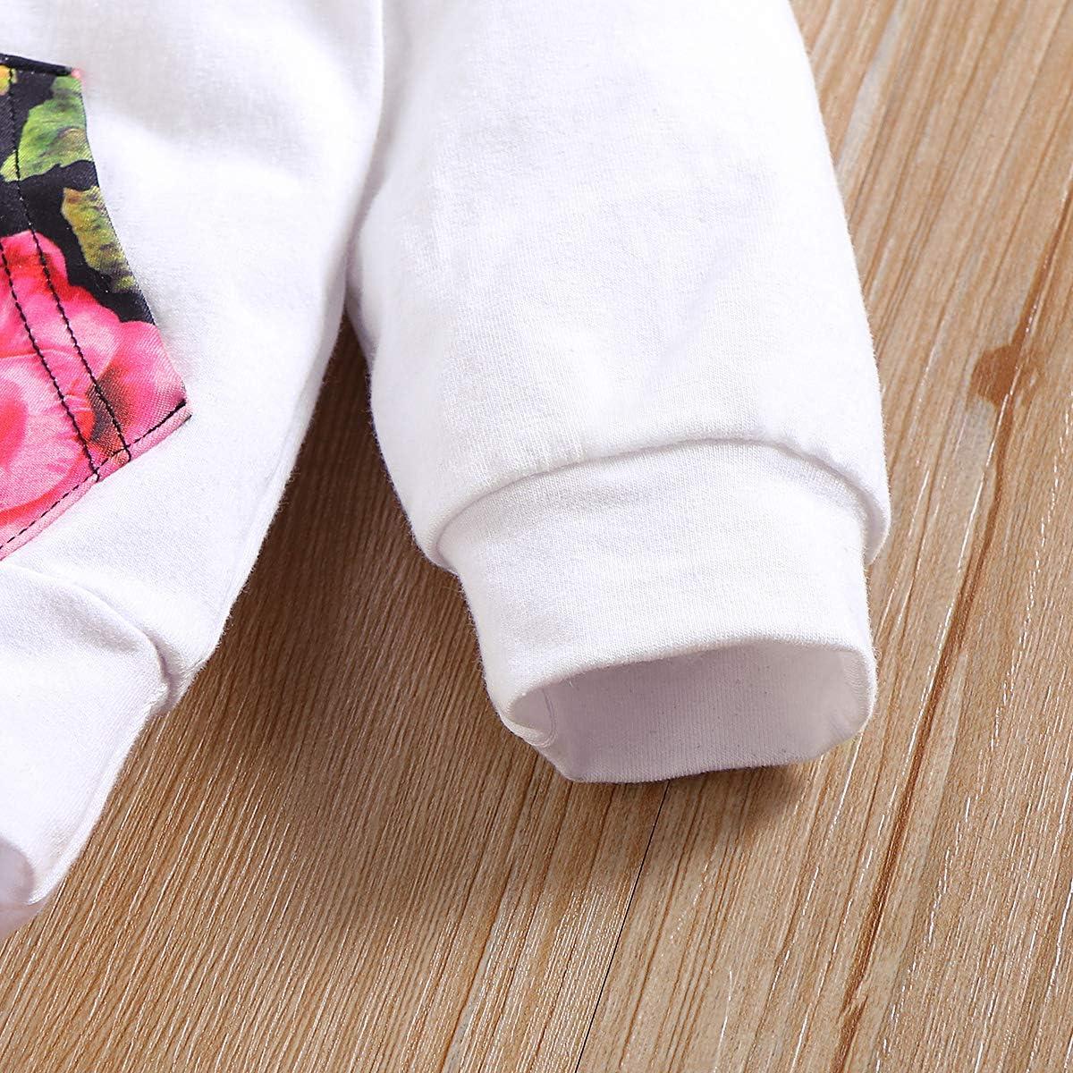 nettes HerbstHoodie gesetztes Pullover-Hosen-Stirnband Borlai Blumenausstattung der Baby-3PCS